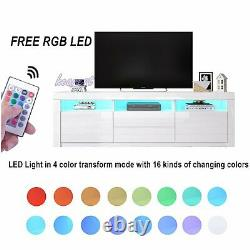 160cm LED Media TV Unit Cabinet High Gloss Doors Drawers Large Storage TV Stand