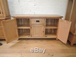 160cm Vancouver Oak 1 Drawer 3 Door Large Sideboard Sideboard Nb123b