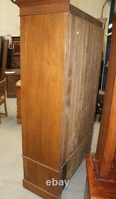 1940's Mirrored 1 Door Oak Wardrobe with large Drawer