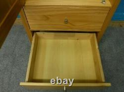 1of2 SOLID WOOD LARGE SINGLE 1DOOR 2DRAWER WARDROBE H188 W54 D71cm SEE SHOP