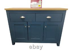 3 Door 2 Drawer Large Sideboard Dark Aqua Blue Furniture Flat Pack Brand New