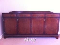 4-Door, 4-Drawer Extra Large Beautiful Dark Chestnut Sideboard
