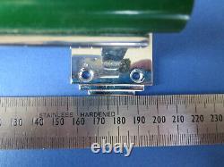 5 Vtg Art Deco Green Bakelite & Chrome Door / Large Drawer Handles Rare Phenolic