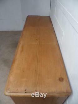 A Fabulous Late Victorian Antique Pine Large 7 Drawer 1 Door Dresser Base