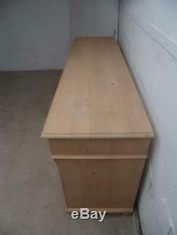 A Large 4 Door 9 Drawer Reclaimed Pine Dresser Base/TV Stand to Wax/Paint