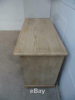 A Large Antique/Old Pine 2 Door 2 Drawer Dresser Base/TV Stand to Wax/Paint