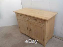 A Super Large Antique/Old Pine 2 Door 6 Drawer Dresser Base to Wax/Paint