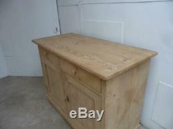 A Top Quality Antique/Old Pine Large 2 Door 2 Drawer Dresser Base to Wax/Paint