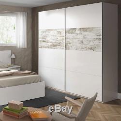 ARC 2 Door Sliding Wardrobe 180cm Large Smoothglide 5 Colours Optional Drawer