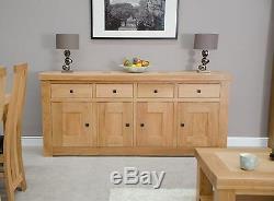 Alaska 4 door 4 drawer extra large contemporary sideboard solid oak furniture