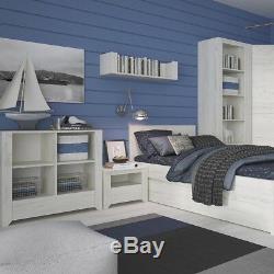 Angel White Oak Bedroom Furniture Extra Large Wide 2 Door 3+3 Drawer Chest Unit