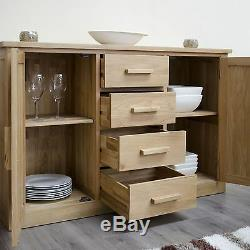 Arden large sideboard solid oak furniture with two door and four drawers