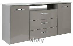 Argos Home Hayward 2 Door 3 Drawer Large Sideboard Grey Gloss