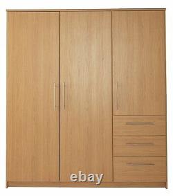 Argos Home Normandy 3 Door 3 Drawer Extra Large Wardrobe Oak
