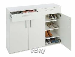 Argos Home Venetia Large 3 Door 2 Drawer Shoe Cabinet -White