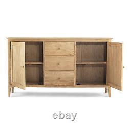 Askim Oak Large Sideboard 2 Door/ 3 Drawers Dining Room Wood Furniture