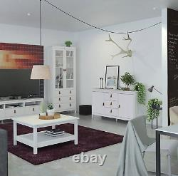 Barcelona Large Wide Sideboard Buffet Unit with 2 Doors + 3 Drawers In White