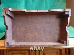 Beautiful Large Antique C-1920 Oak Smokers Cabinet, Glass Doors, Drawers & Key