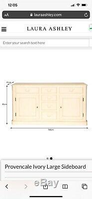 Beautiful Large Sideboard, Ivory, 2 Door 6 Drawer, Provencale, Laura Ashley