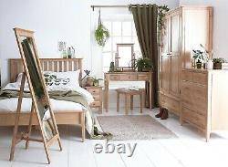 Bergen Light Oak Large 2 Door 1 Drawer Wardrobe / Scandinavian Style Retro