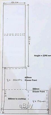 Bespoke Designer Large Sliding Door Fitted Wardrobes + Storage Drawers Draws