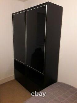 BoConcept Large Storage Cabinet with Glass Doors, Shelves, and Drawers