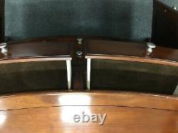 Bowfront Sideboard Unit Large Dark Wood 4 Drawers & 2 Doors CS N35
