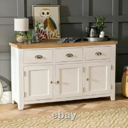 Cheshire Cream Painted Large 3 Drawer 3 Door Sideboard -EX-DISPLAY-WW37-F232