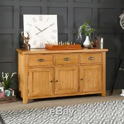 Cheshire Oak Large 3 Drawer 3 Door Sideboard Dining Room Furniture AD37
