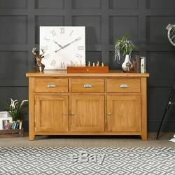 Cheshire Oak Large 3 Drawer 3 Door Sideboard- EX-DISPLAY- AD37-F171