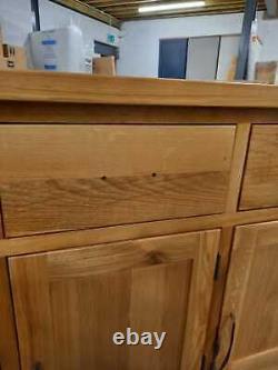 Cheshire Oak Large 3 Drawer 3 Door Sideboard-EX-DISPLAY- AD37-F321