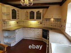 Complete large kitchen carcasses, doors and drawers, worktops and tap