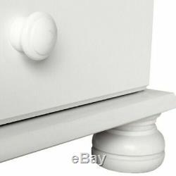 Copenhagen Wide 3 Door 4 Drawer Wardrobe White Large Wardrobe Bedroom Cupboard b