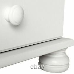 Copenhagen Wide 3 Door 4 Drawer Wardrobe White Large Wardrobe Bedroom Cupboard d