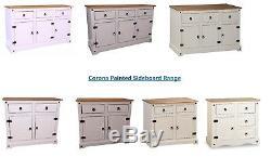 Corona Sideboard Large Small Cabinet Cupboard Cream White Grey 1 2 3 Door Drawer