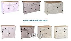 Corona Sideboard Large Small Cabinet Cupboard Cream White Grey 1 2 3 Door Drawer