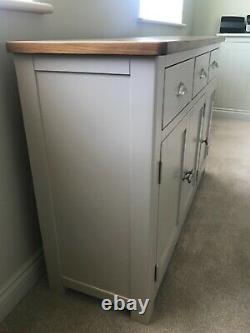 Cotswold Company Large 3 Door & Drawer Sideboard in Oak + Lundy Stone
