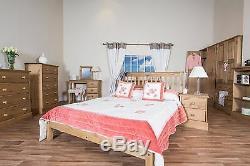Cotswold Solid Country Pine Bedroom Range Large 2 Door 2 Drawer Wide Wardrobe