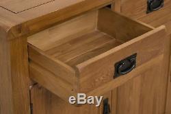 Cotswold Solid Oak Large Sideboard Cabinet 3 Door 3 Drawer Storage Unit Bedroom