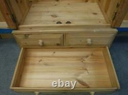 DOVETAILED LARGE SOLID WOOD DOUBLE 2DOOR 4DRAWER WARDROBE 205x103- SEE OUR SHOP
