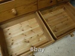 DOVETAILED WIDE LARGE SOLID WOOD 2DOOR 6DRAWER WARDROBE H208 W165 D59cm SEE SHOP