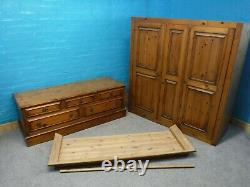 DUCAL CHATUEAU DOVETAILED LARGE SOLID WOOD 2DOOR 5DRAWER WARDROBE see our shop