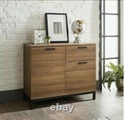 Detriot Large 2 Door 1 Drawer Sideboard Brown Oak Cupboard TV Cabinet, Free P&P