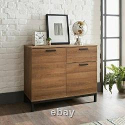 Detriot Large 2 Door 1 Drawer Sideboard Brown Oak Cupboard TV Cabinet Furniture