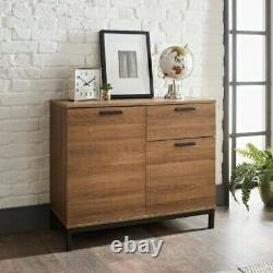 Detriot Large 2 Door 1 Drawer Sideboard Brown Oak Cupboard TV Cabinet OAK EFFECT