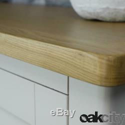Dorset Grey Oak Sideboard Large 2 Door 3 Drawer Cabinet Dove Grey