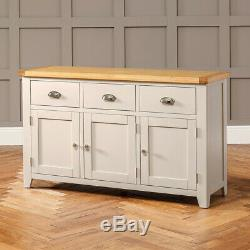 Downton Grey Painted Large 3 Drawer 3 Door Sideboard Furniture DT37-NEW