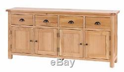 Drexel Solid Oak Large 4 Door 4 Drawer Buffet