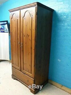 Ducal Large Solid Wood 2door 1drawer Wardrobe + With Lock & Key See Our Shop