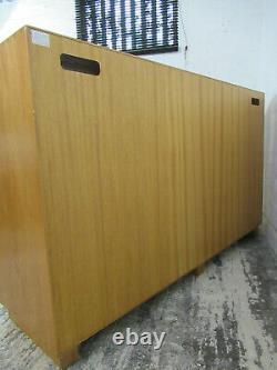 Ercol Windsor Solid Elm Light Finish Large Three Door Three Drawer Sideboard